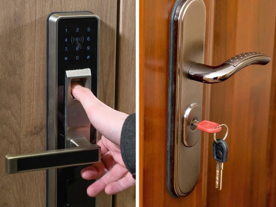 une porte avec ouverture digitale
