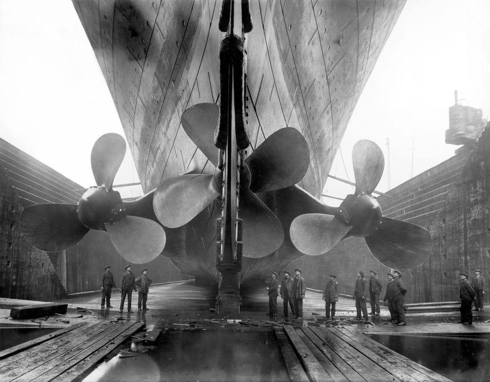 les pales du titanic