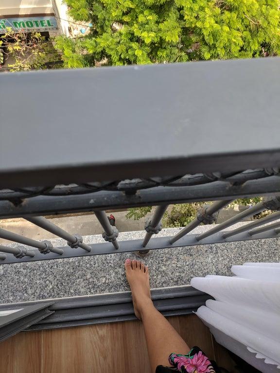 un balcon trop petit