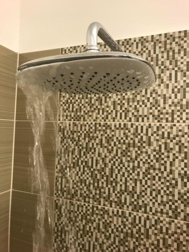 une douche à l'italienne