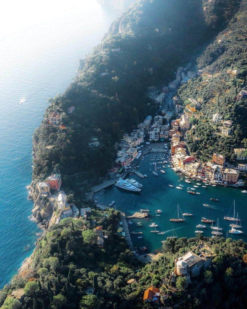 La ville de portofino en italie