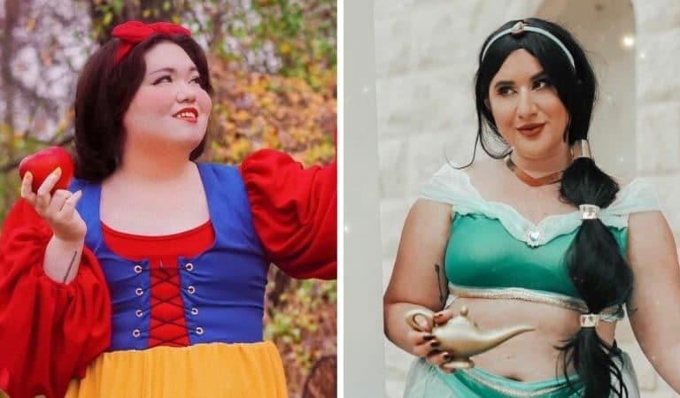 Des modèles grande taille en princesses Disney pour dénoncer leur manque de représentation