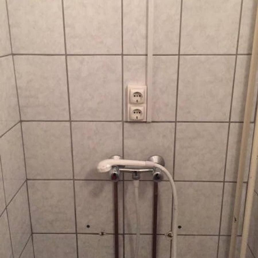 prises électriques dans une douche
