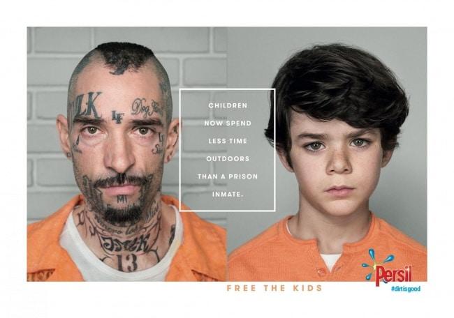 une publicité pour la liberté des enfants