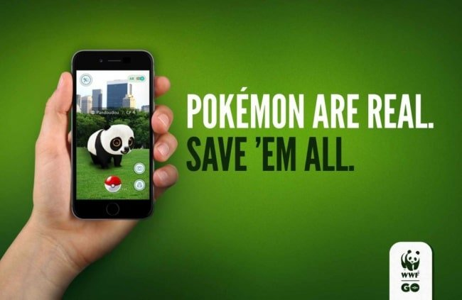 une publicité contre l'extinction des animaux
