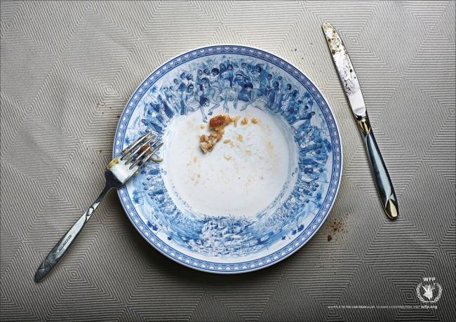 une campagne publicitaire contre la famine