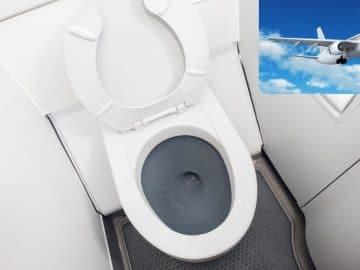 les WC d'un avion
