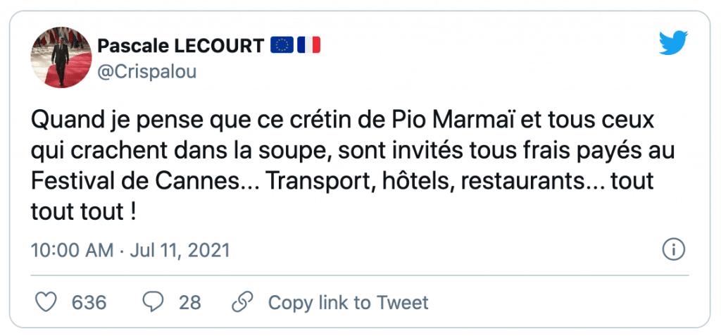 tweet sur Pio Marmaï
