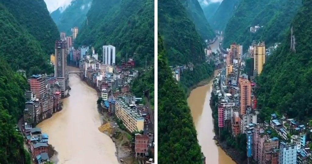 une ville chinoise à Yunnan
