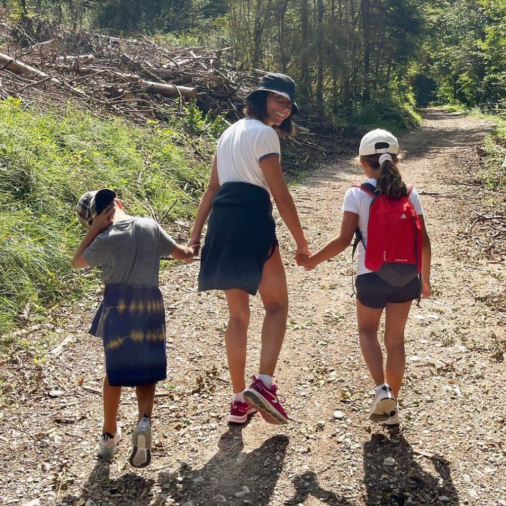Alessandra Sublet et ses deux enfants