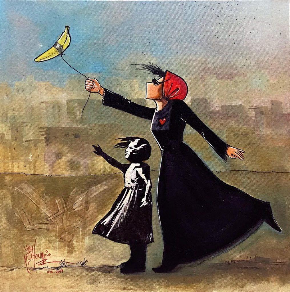 shamsia-hassani-banana-art