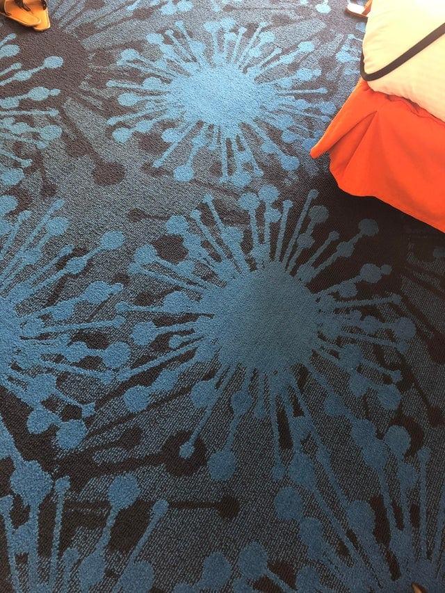 virus de modèle de tapis d'hôtel