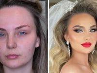 mariées avant/après maquillage