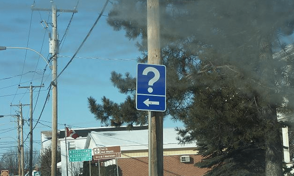 point d'interrogation