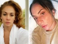jlo lady gaga sans maquillage