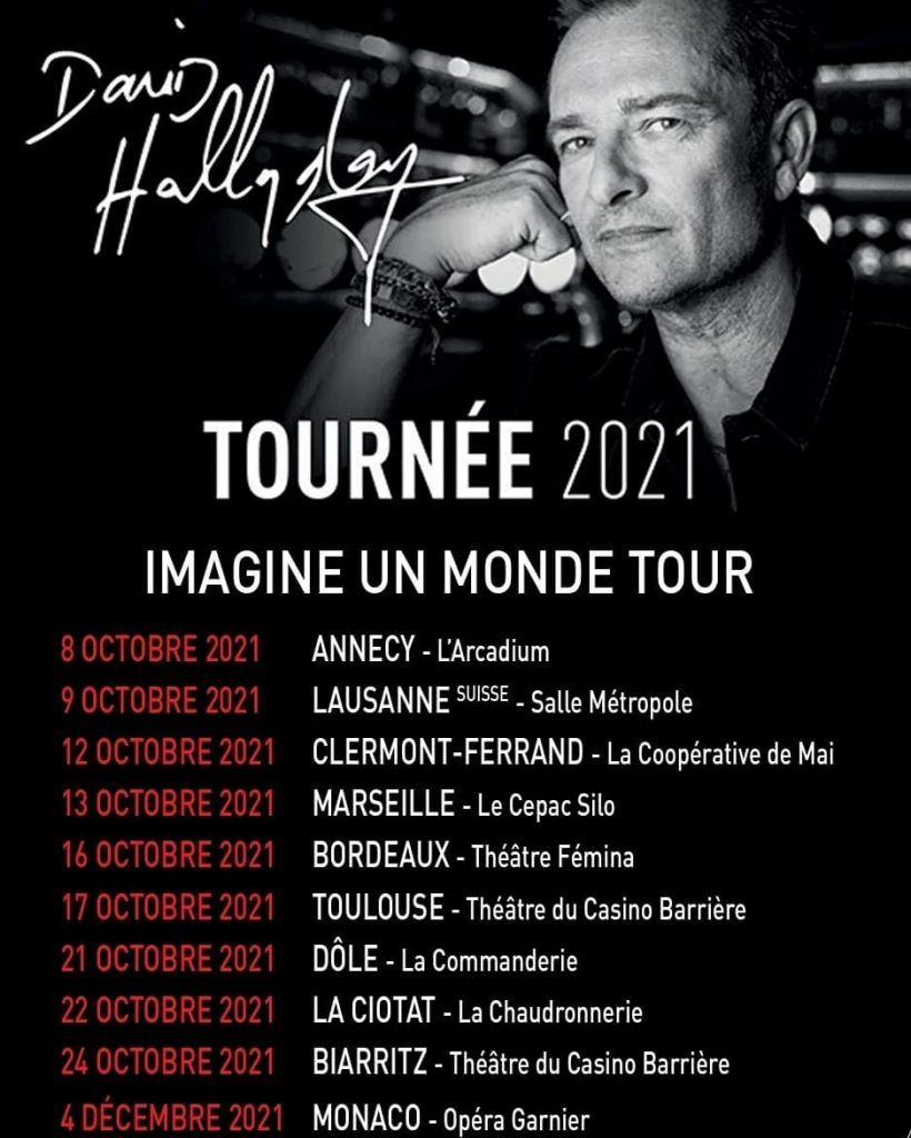 David Hallyday Imagine un monde tour