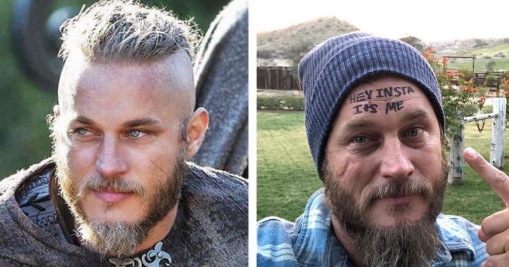 Ragnar Lothbrok de la série Vikings avec/sans costume
