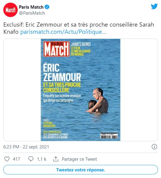La Une du 23 septembre 2021 / ©Paris Match