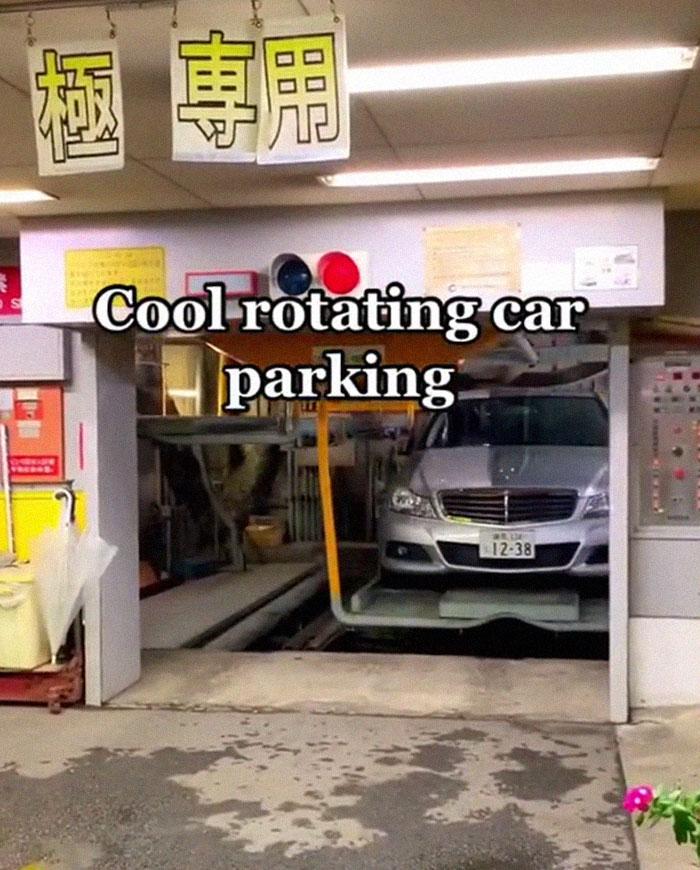 parking rotatif au Japon