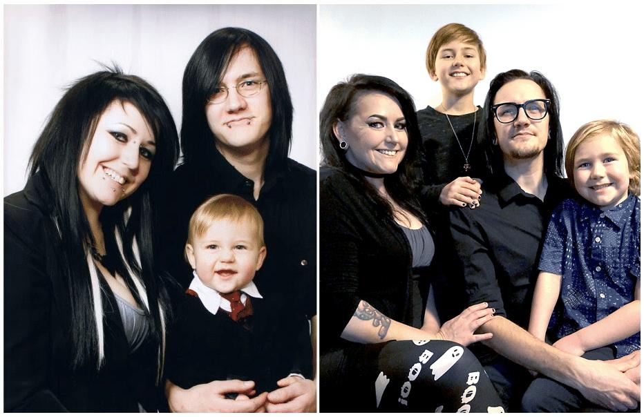 photo de famille emo