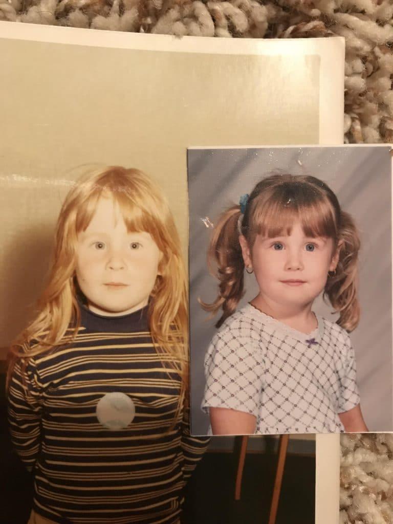 Ressemblance mère et fille à 4 ans