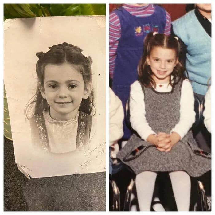 Ressemblance petite fille et grand-mère