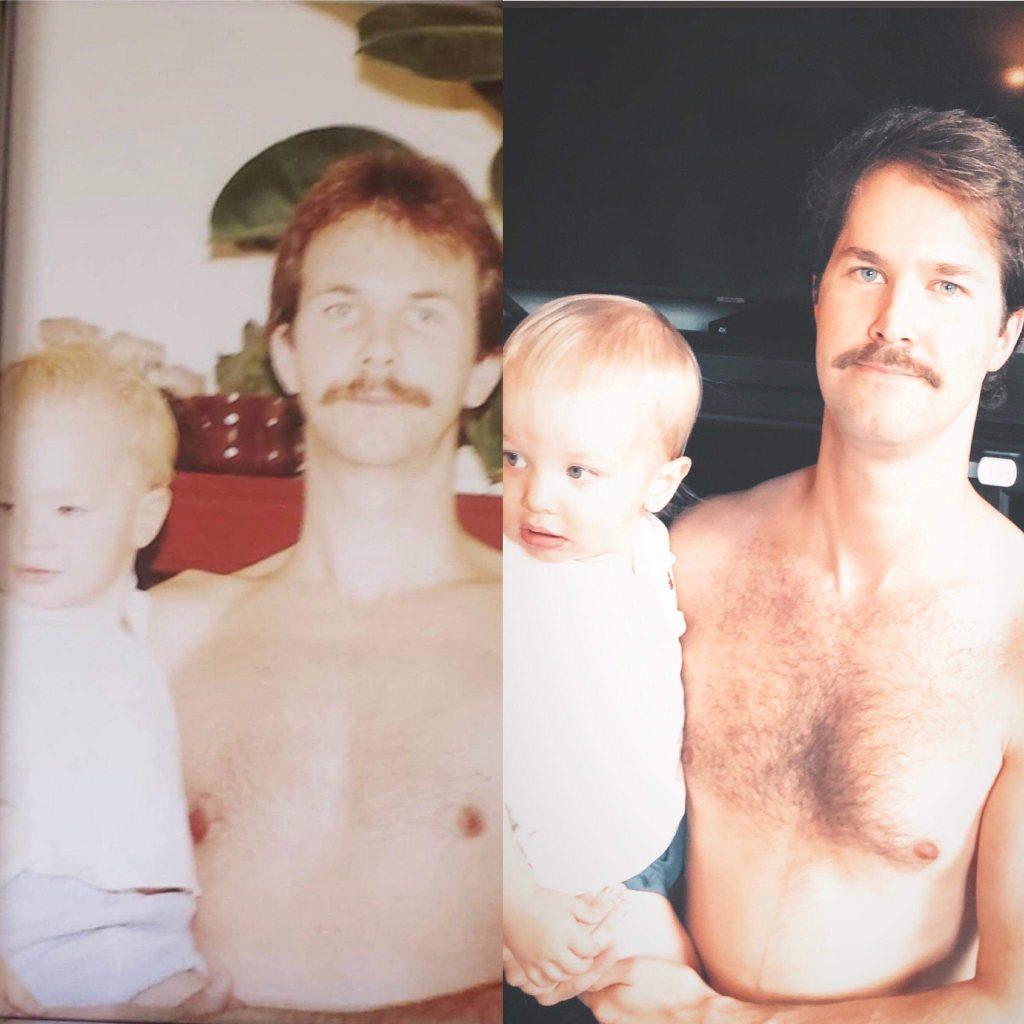 Ressemblance entre un père et son fils