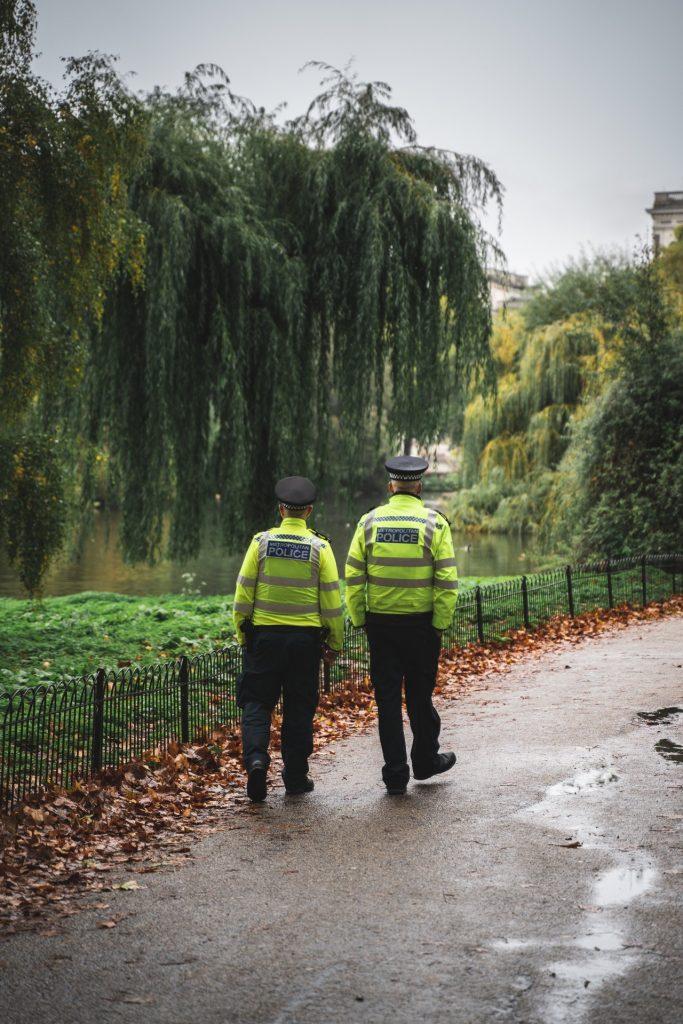 Police dans la forêt