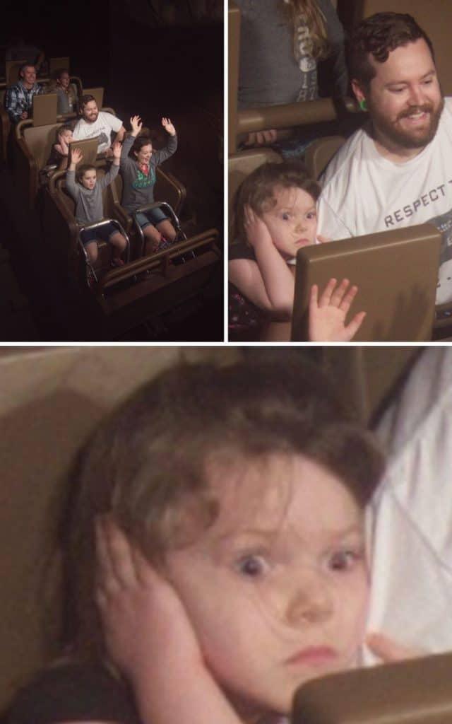 Une petite fille effrayée