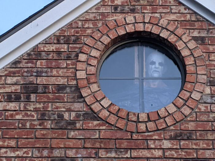décoration d'Halloween silhouette à la fenêtre